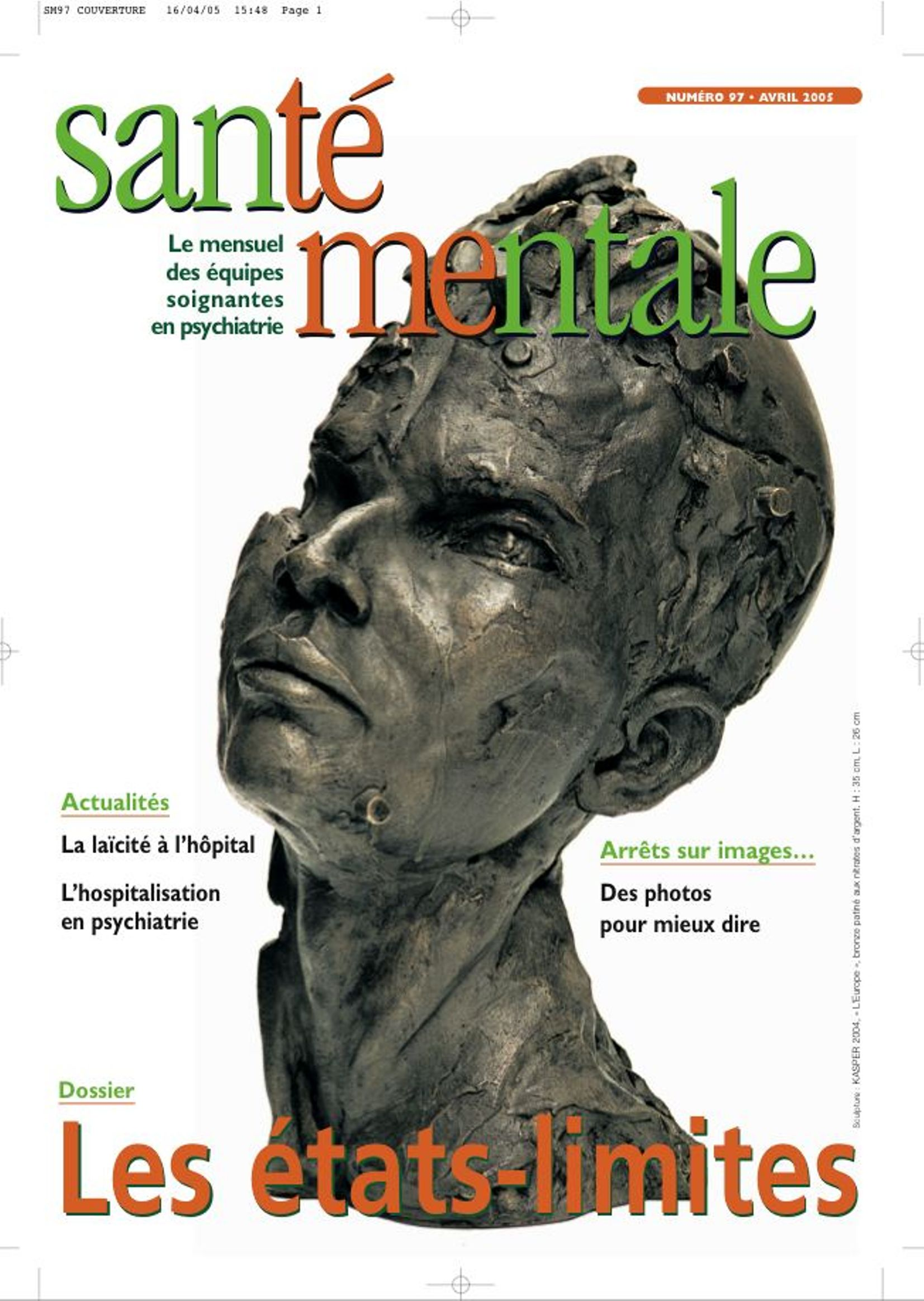 Couverture N°97 AVRIL 2005
