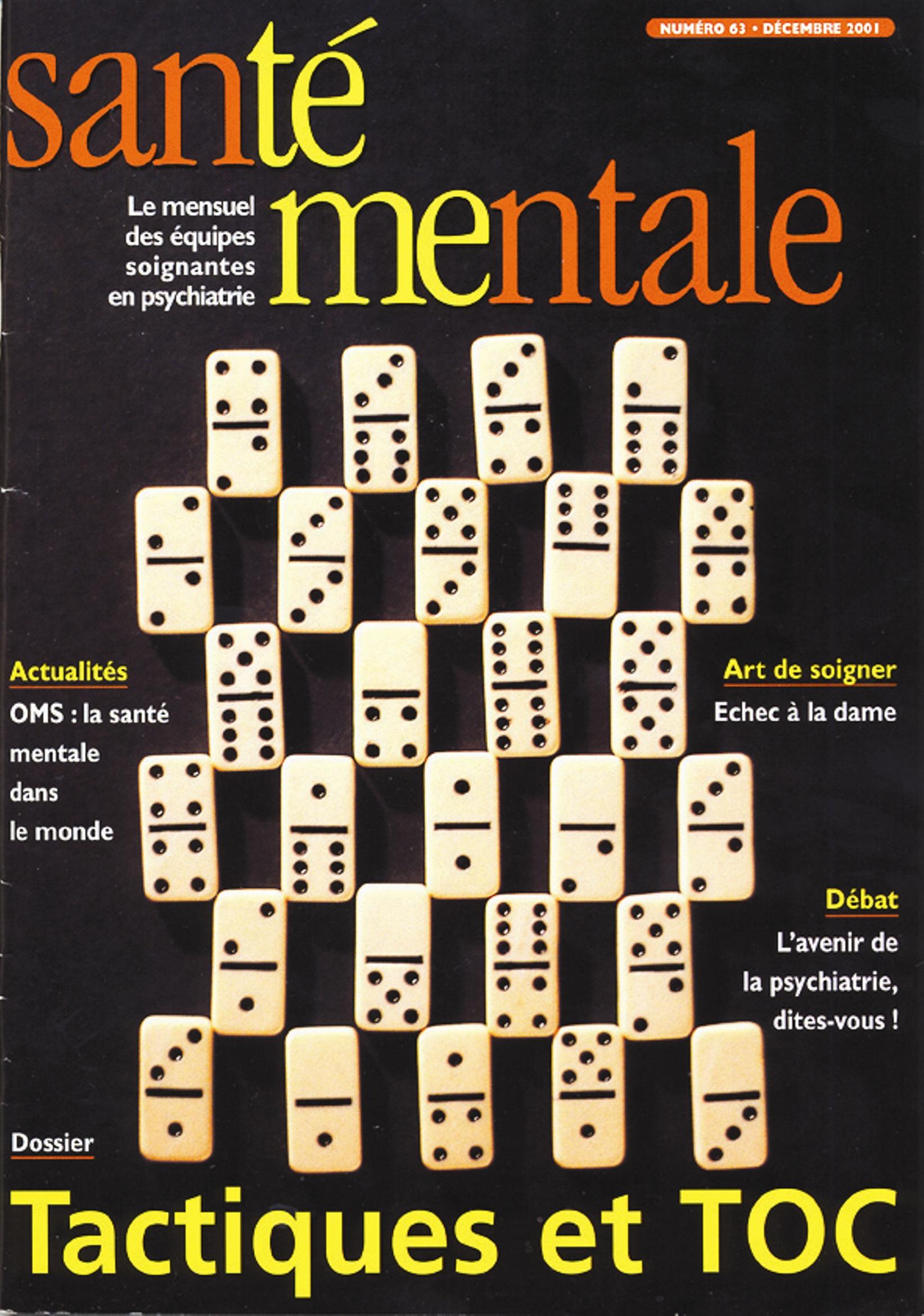 Couverture N°63 décembre 2001
