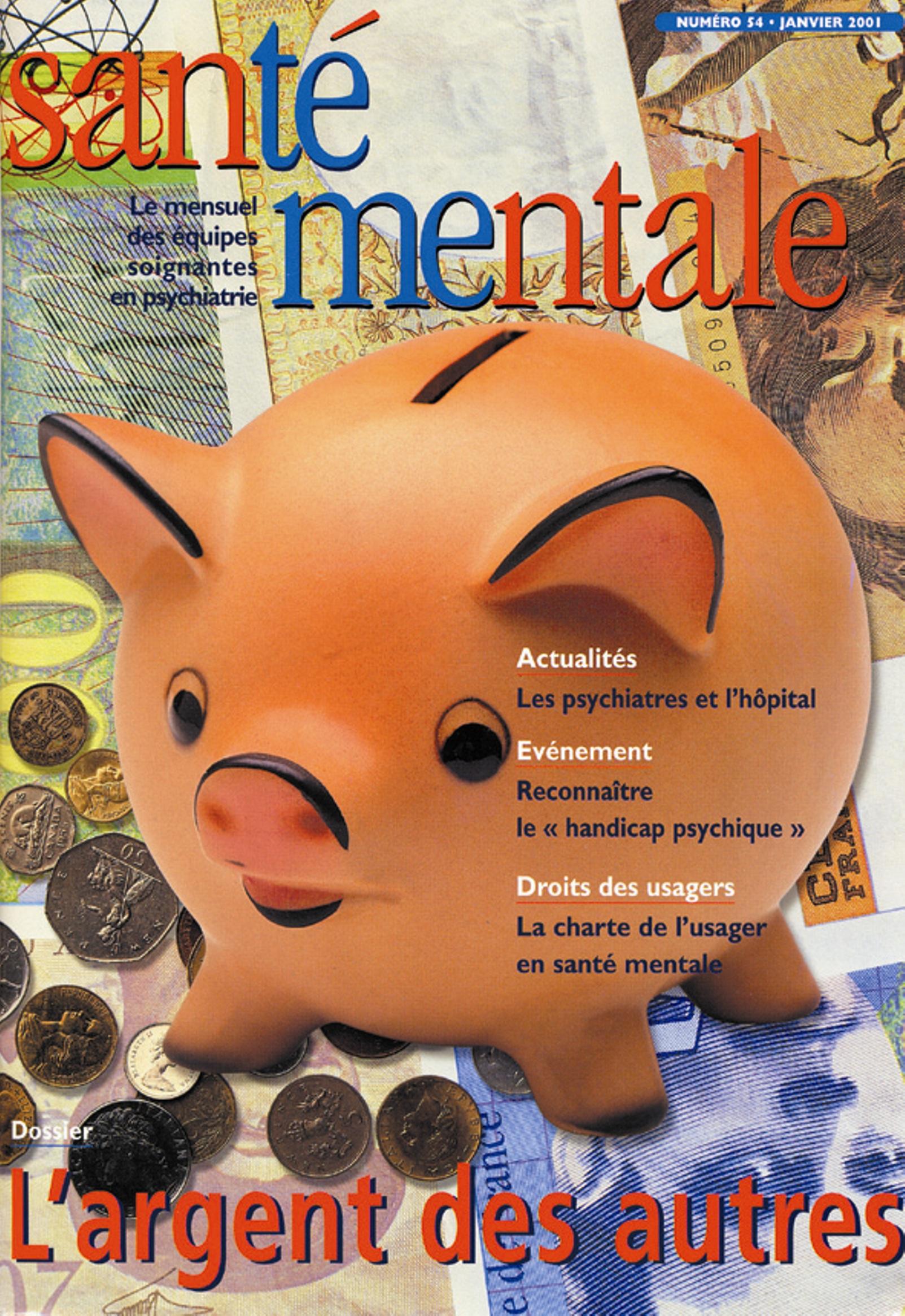 Couverture N°54 janvier 2001