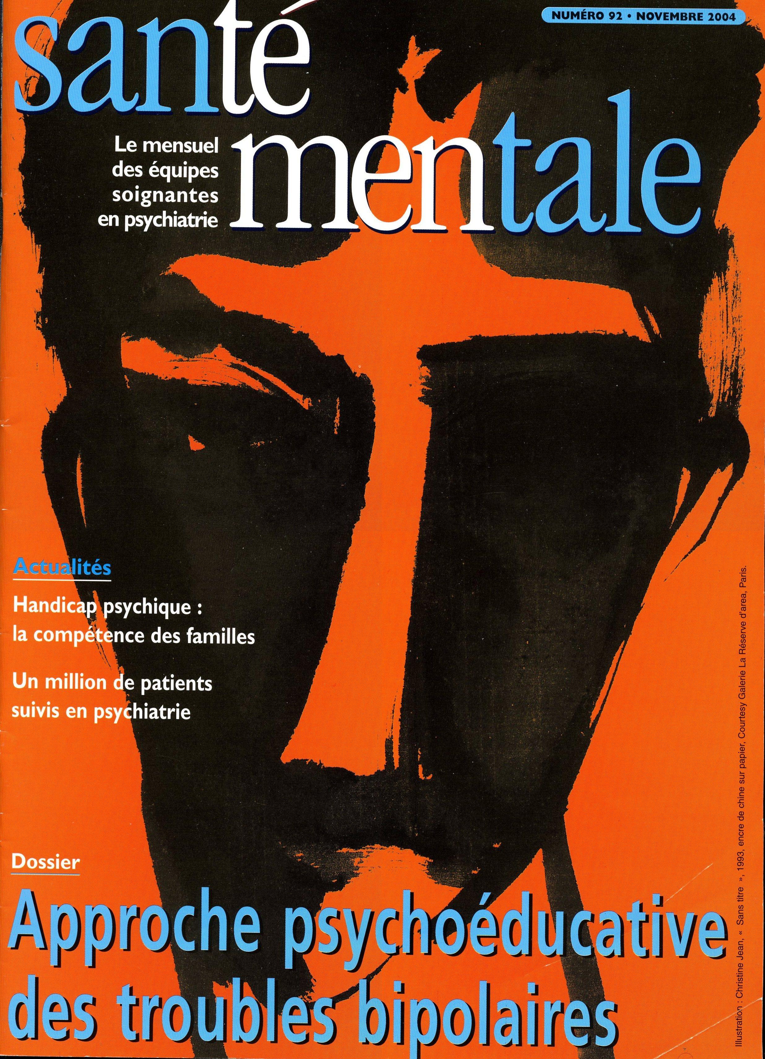 Couverture N°92 Novembre 2004