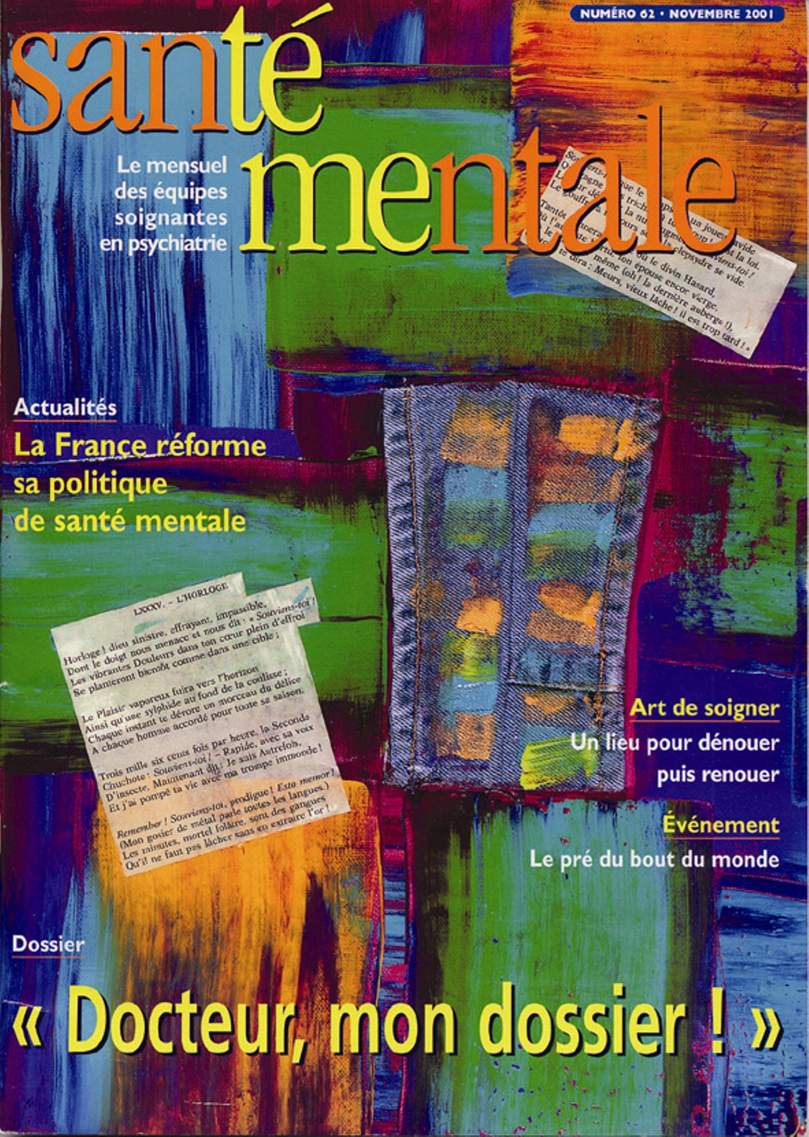 Couverture N°62 novembre 2001