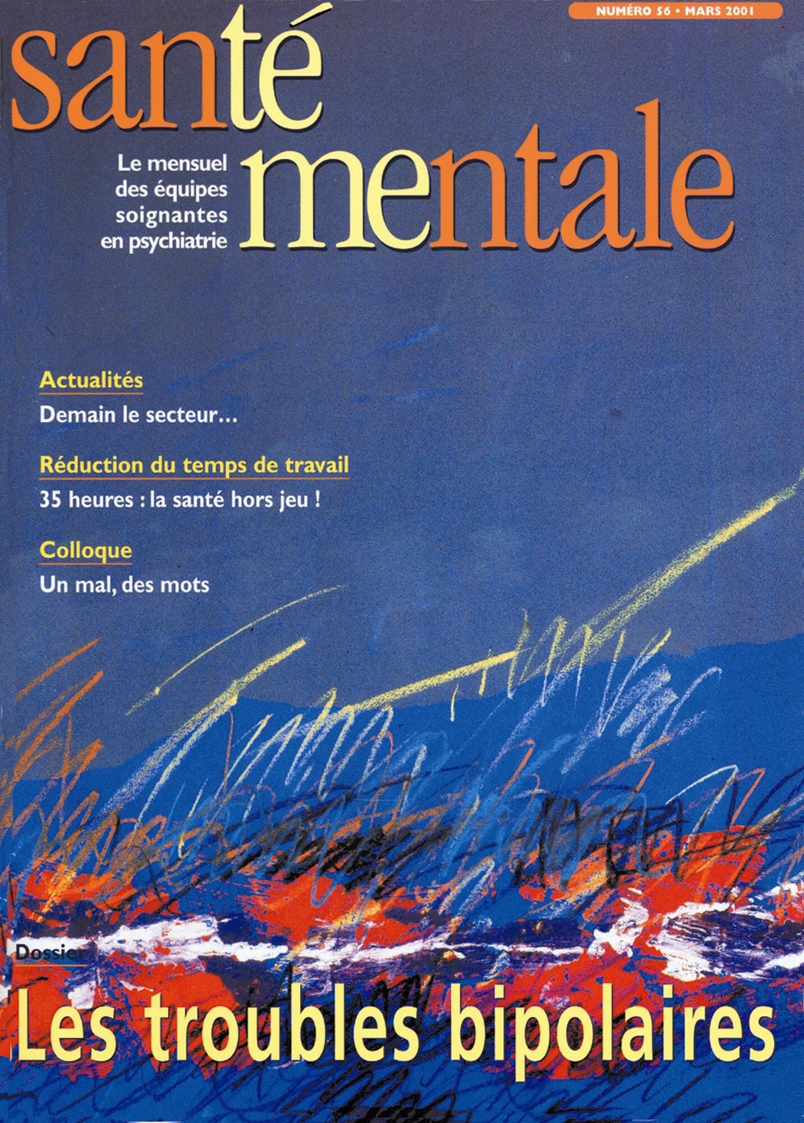 Couverture N°56 mars 2001