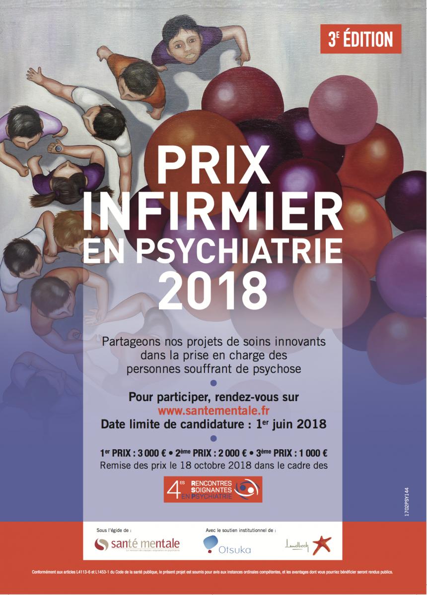 Lancement du Prix infirmier en Psychiatrie 2018 !