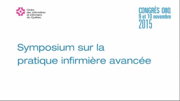 Symposium sur la pratique infirmière avancée