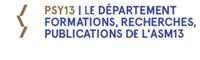 Découvrez PSY13 le département formations, recherches et publications de l' ASM13