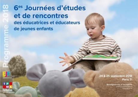 6èmes Journées d'études et de rencontres des éducatrices et éducateurs de jeunes enfants.