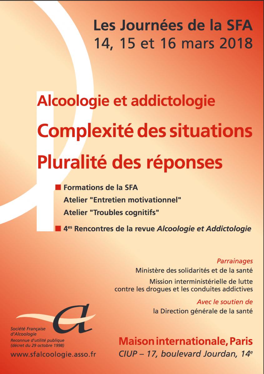 Alcoologie et addictologie : complexité des situations - pluralité des réponses
