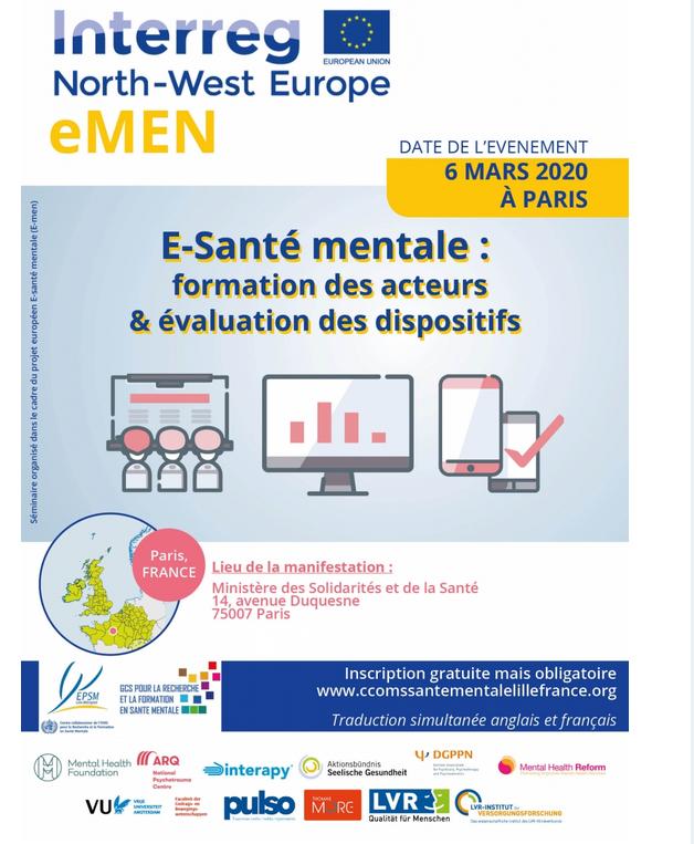 E-sante mentale : formation des acteurs & évaluation du dispositif