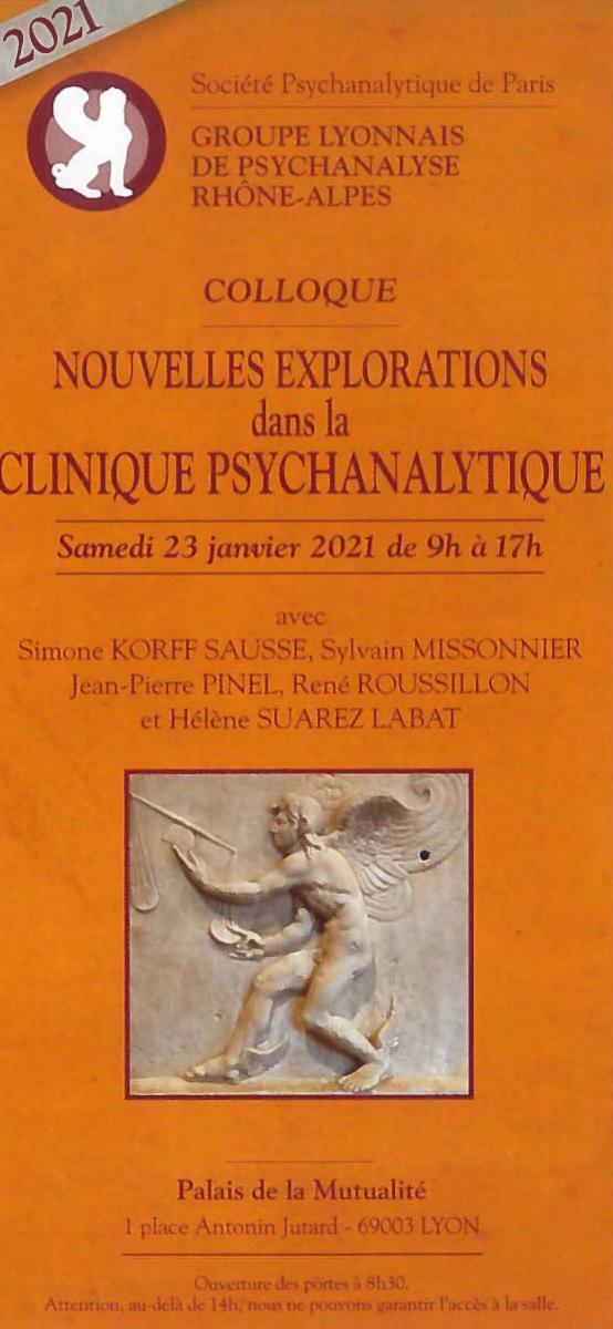 Nouvelles explorations dans la clinique psychanalytique