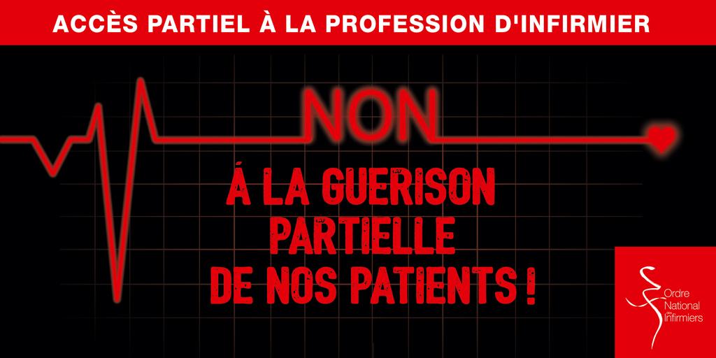 Les infirmiers mobilisés contre le projet d'accès partiel à la profession