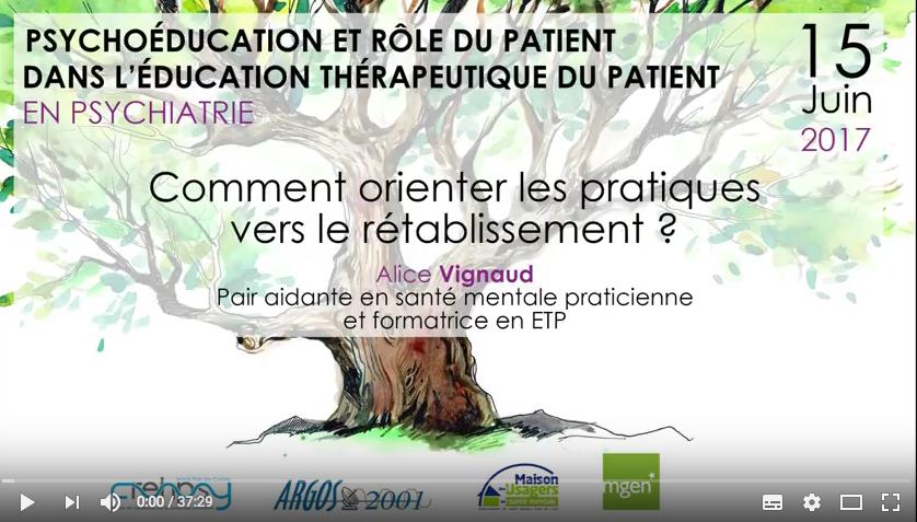 Psychoéducation et rôle du patient dans l'ETP en psychiatrie : les vidéos des interventions sont en ligne