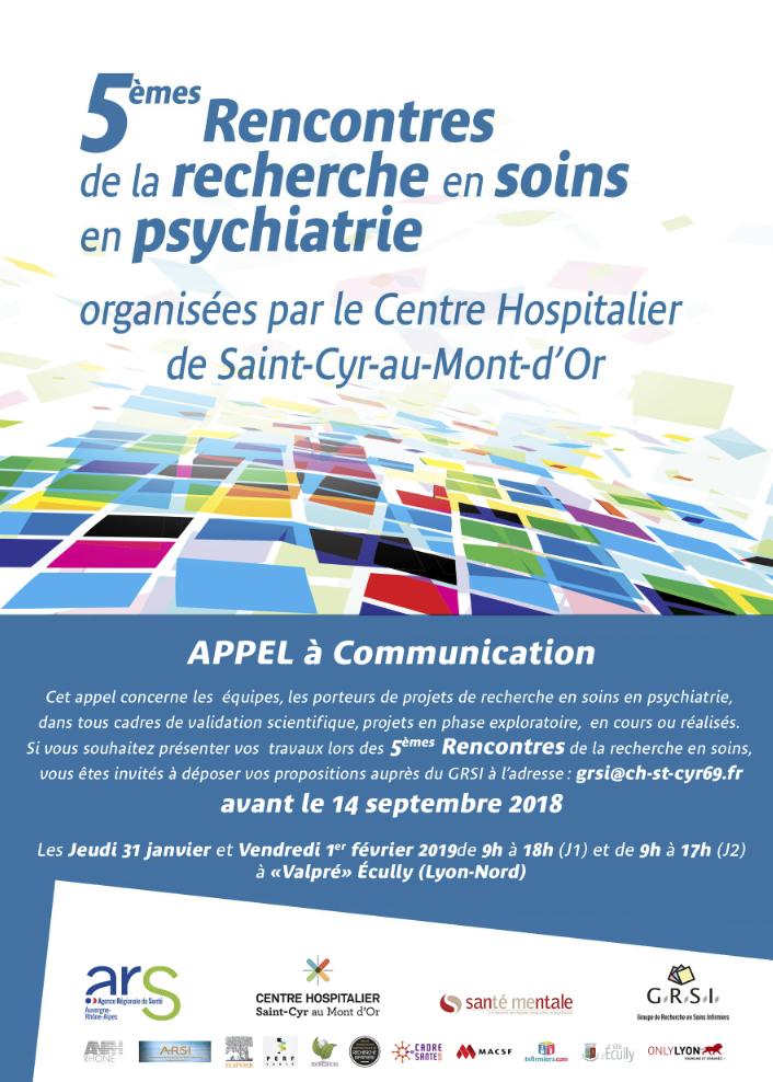 Rencontres de la recherche en soins en psychiatrie : appel à communication
