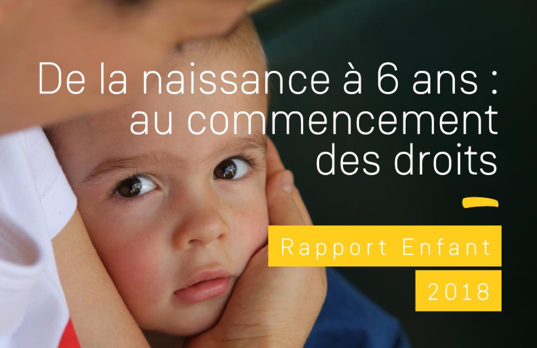 La petite enfance au cœur du rapport 2018 du Défenseur des droits