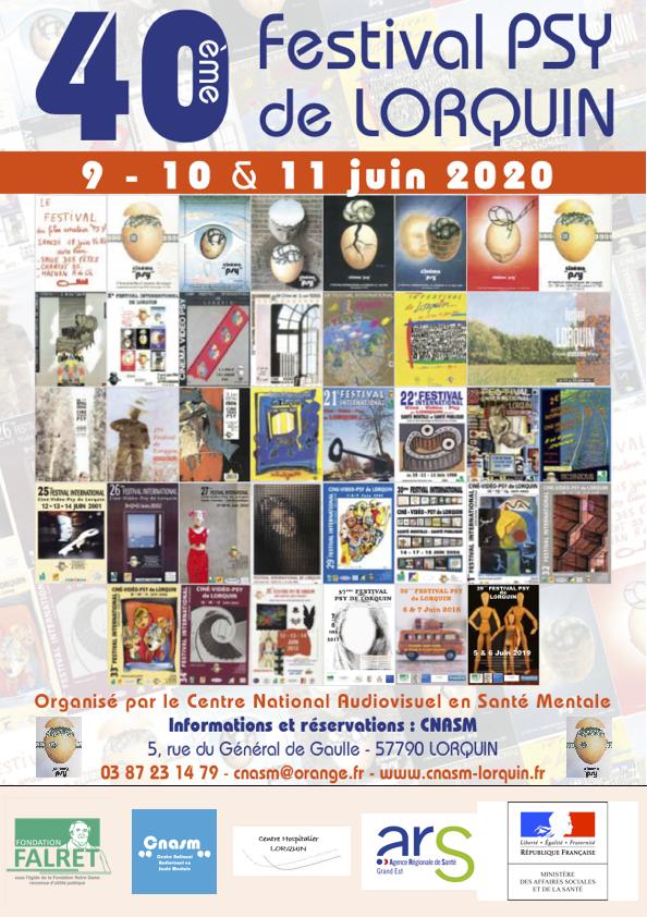 En 2020, le Festival psy de Lorquin fête ses 40 ans !