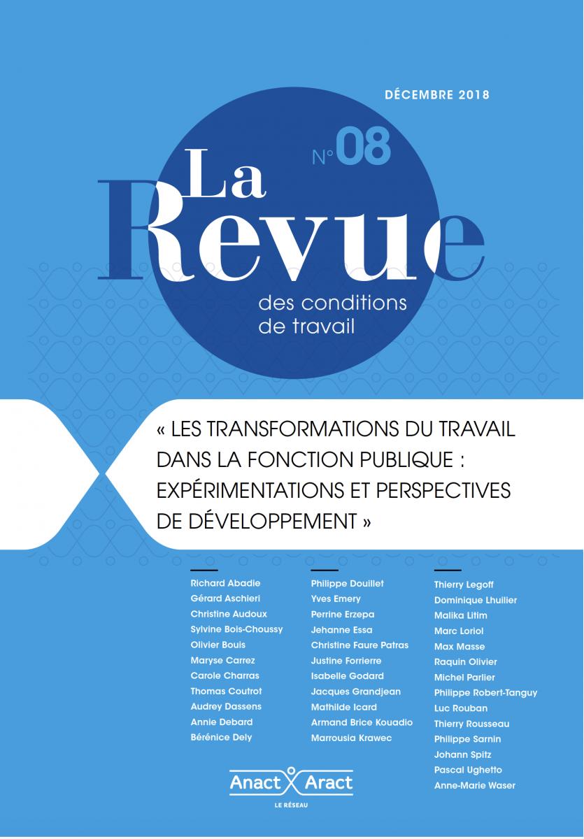 Les transformations du travail dans la fonction publique : expérimentations et perspectives de développement