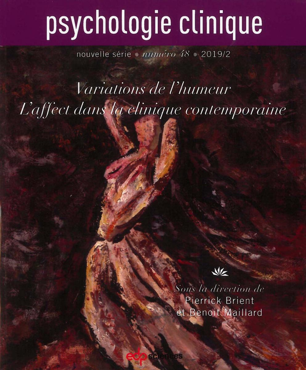 Parution du n°48 de la Revue Psychologie clinique : Variations de l'humeur, l'affect dans la clinique contemporaine