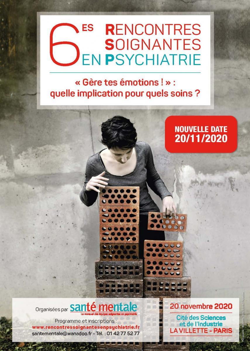 6es Rencontres soignantes en psychiatrie, nouvelle date !