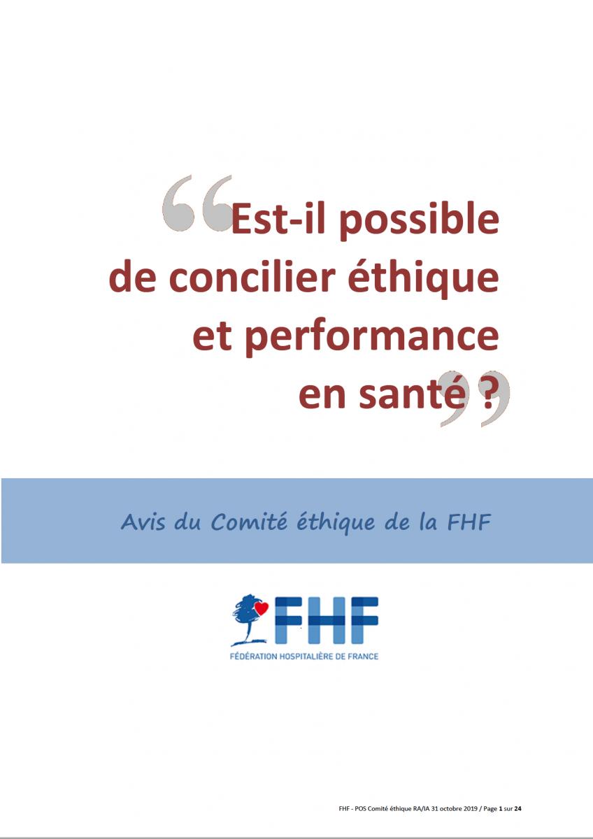 « Est-il possible de concilier éthique et performance en santé ? »