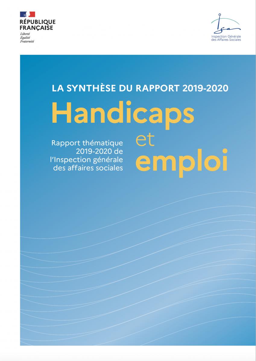 Handicaps et emploi : un rapport thématique du l'Igas