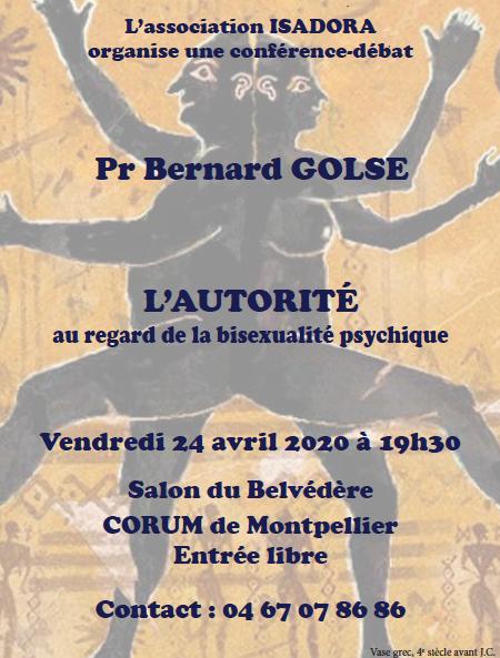 L'autorité au regard de la bisexualité psychique : voir la conférence du Dr Golse