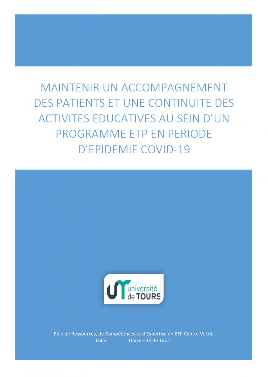 Guide pour maintenir l'éducation thérapeutique des patients en période de Covid-19
