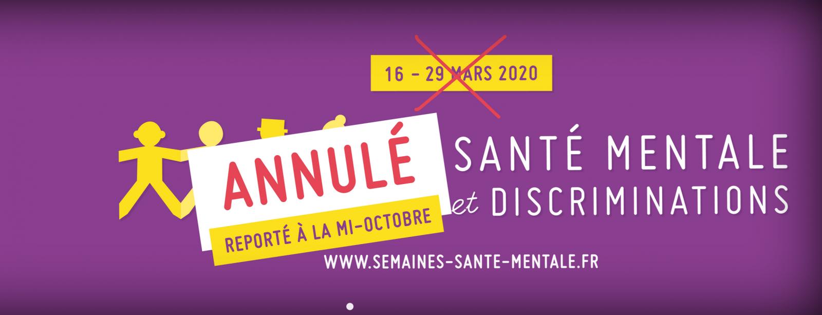 Les Semaines d'information sur la santé mentale reportées mi-octobre