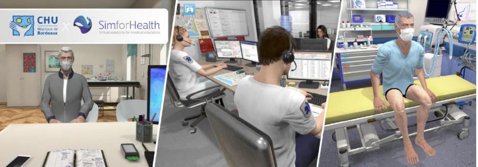 Le CHU de Bordeaux et SimforHealth créent le Covid-19: le CHU de Bordeaux et SimForHealth créent un simulateur numérique de formation pour les soignants