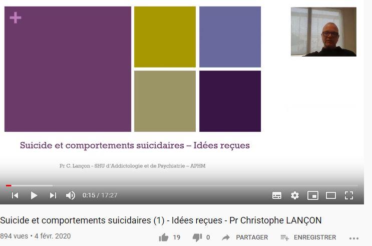 Une playlist Youtube sur le suicide et les comportements suicidaires