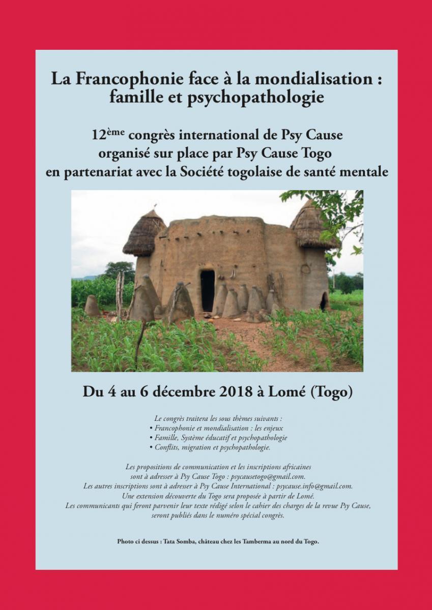 La Francophonie face à la mondialisation : famille et psychopathologies dans l'espace francophone