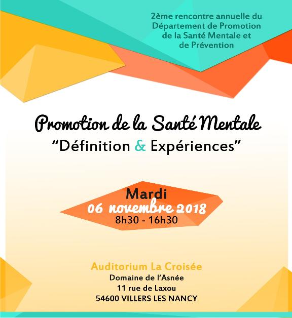 Promotion de la santé mentale : définition et expériences