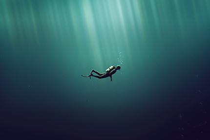 « Sous l'eau, mon corps est rassemblé »